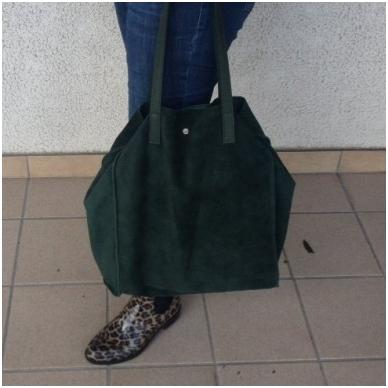 Zomšinė rankinė - krepšys 8